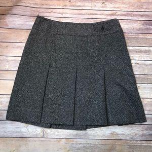 🔴Ann Taylor Loft Wool Blend Pleated Skirt Size 14